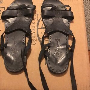 Free people lace up sandals
